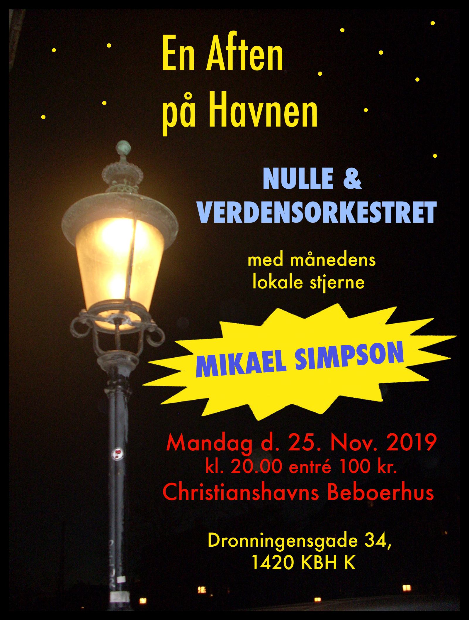 Nulle & Verdensorkestret m. special guest Mikael Simpson